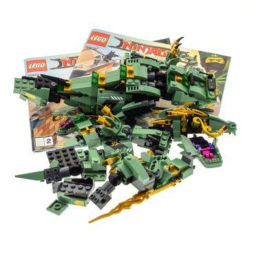 1 x Lego System Bionicle Teile Set Modell The LEGO Ninjago Movie 70612 Green Ninja Mech Dragon mit Bauanleitung 1 + 2  incomplete unvollständig