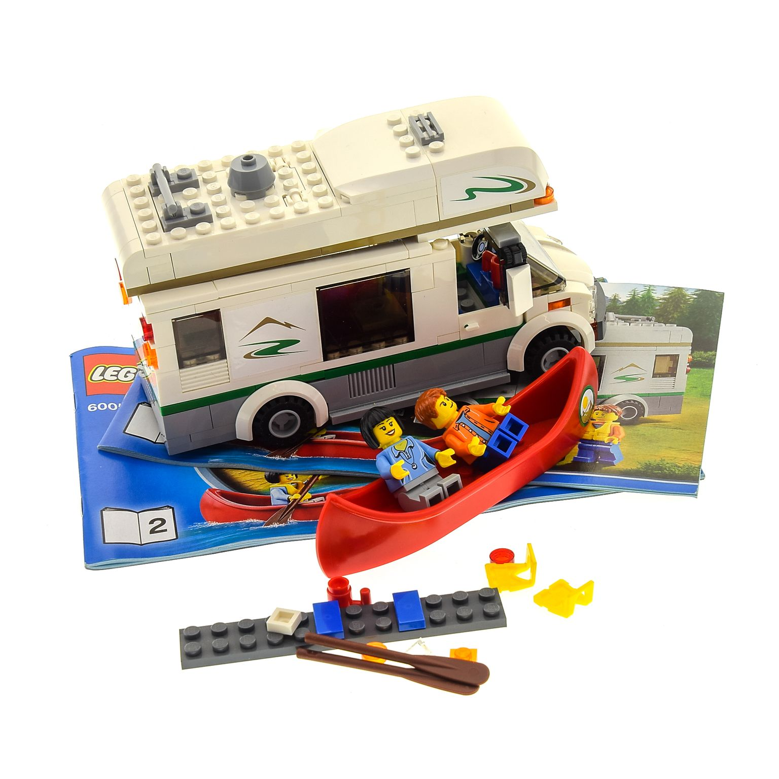 LEGO/DUPLO Spezialist | 1 x Lego brick Parts for Set Model Town City  Recreation 60057 Camper Van with Instructions 1 + 2 ( model incomplete )