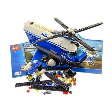 1 x Lego brick Parts for Set 4439 Police Heavy-Duty Helicopter with 5 Minifigs and Instructions 1 + 2 ( model incomplete )
