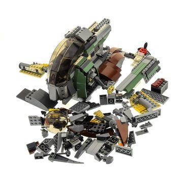 1 x Lego System Teile Set für  Modell Star Wars Episode 4/5/6 Slave I (2te Edition) 6209 braun grün grau Raumschiff incomplete unvollständig