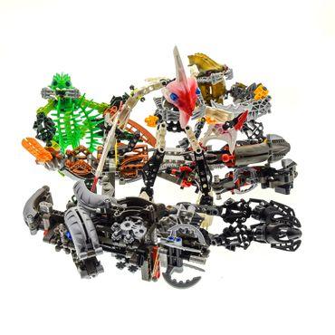 1 x Lego Bionicle Figuren Set Modell Technic 8594 Jaller & Gukko 8920 Ehlek 8921 Pridak 8918 Carapar incomplete unvollständig