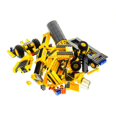1 x Lego brick Parts for Set Construction 7633 Construction Site 7631 Dump Truck with 2 Minifigs ( model incomplete )