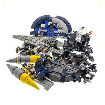 1 x Lego System Teile Set für Modelle Star Wars 8018 Armored Assault Tank 75040 General Grievous' Wheel Bike 8016 Hyena Droid Bomber blau grau unvollständig