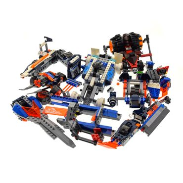 1 x Lego System Teile Set Chima 70131 Rogon's Rock Flinger and Nexo Knights 70348 Lance's Twin Jouster 70312 Mecha Horse 70313 Moltor's Lava Smasher unvollständig