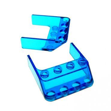 2 x Lego brick Trans-Dark Blue Windscreen 4 x 4 x 1 6238