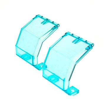 2 x Lego brick Trans-Light Blue Windscreen 4 x 4 x 4 1/3 Helicopter 2483