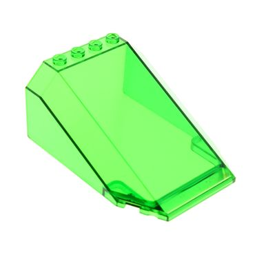 1 x Lego brick Trans-Green Windscreen 8 x 6 x 3 Wedge 6433 32086 551