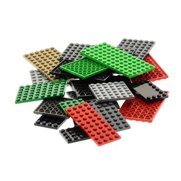 25 x Lego brick Building Plate randomly mixed colors and sizes