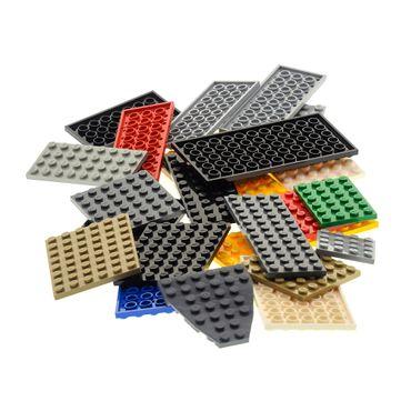 25 x Lego System Basic Platten Bau Platte zufällig bunt gemischt verschiedene Farben und Größen City – Bild 2
