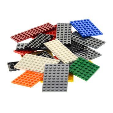 25 x Lego System Basic Platten Bau Platte zufällig bunt gemischt verschiedene Farben und Größen City – Bild 3