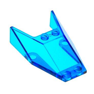 1 x Lego brick Trans-dark Blue Windscreen 6 x 4 x 1 1/3   6456 1351 6597 6152