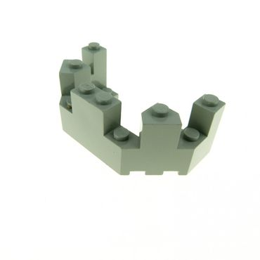 1 x Lego brick Light Gray Castle Turret Top 4 x 8 x 2 1/3 6066