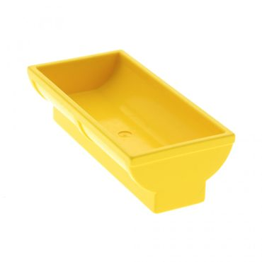 1 x Lego brick Yellow Duplo Animal Accessory Horse Trough 2 x 4 x 2 Set 9133 9137 9190 488224 4882
