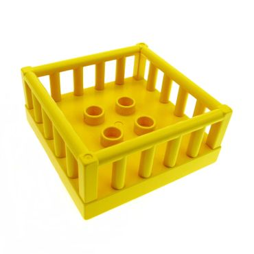 1 x Lego brick Yellow Duplo Furniture Playpen 4 x 4 with 4 Studs Inside 2252