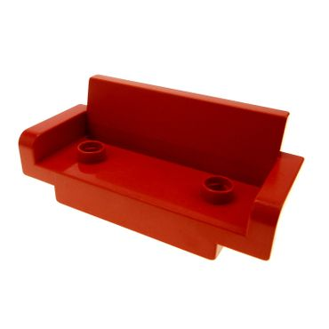1 x Lego brick Red Duplo Furniture Couch Sofa 2 x 6  4888