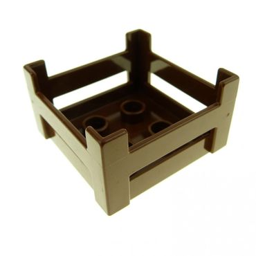 1 x Lego brick brown Duplo Container Wooden-Style Crate 6446