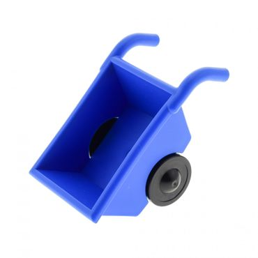 1 x Lego brick blue Duplo Wheelbarrow with Black Wheels Set 9217 4663 4688 2292c02