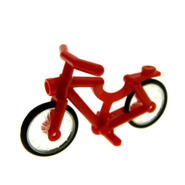 1 x Lego System Fahrrad rot City Bicycle Speichen Rad Reifen komplett 92851c01 4719c02