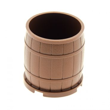 1 x Lego brick Brown Container Barrel 4 x 4 x 3.5 Set 6769 6762 6761 2126 6764 30139