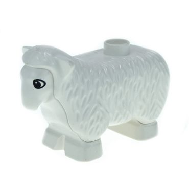 1 x Lego brick White Duplo Sheep dupsheepnew