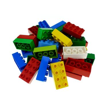 35 x LEGO DUPLO Brick 2x4 BASIC BUILDING BLOCKS Stones 8er Kiloware 3011 31459 color mixed randomly k1