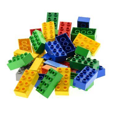 35 x LEGO DUPLO Brick 2x4 BASIC BUILDING BLOCKS Stones 8er Kiloware 3011 31459 color mixed randomly k1 – Bild 4