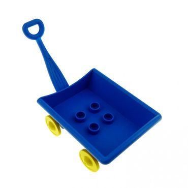 1 x Lego brick blue Duplo Hand Wagon complete assembly Set 2989 2987 2985 31285c01