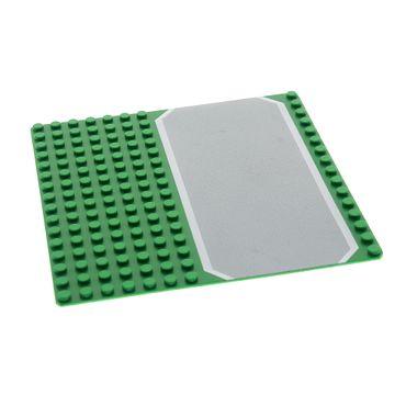 1 x Lego System Bau Basic Platte grün hell grau 16 x 16 Noppen 16x16 Rasen Straße 51595 30225px1
