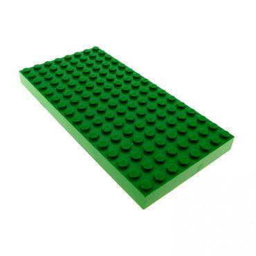 1 x Lego System Bau Basic Platte grün 16x8 Noppen dick Wiese Rasen Bauplatte 44041 4181116 4204