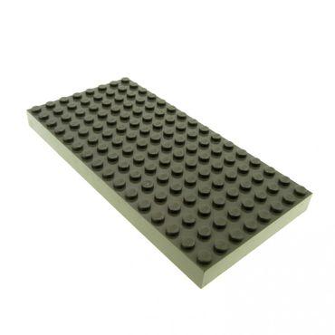 1 x Lego System Bau Platte 8 x 16 alt-dunkel grau 16 x 8 Noppen dick 8x16 Burg Ritter 44041 4181114 4204