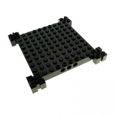 1 x Lego brick Black Modified 12 x 12 Base 30645