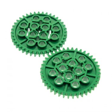 2 x Lego brick green Technic Gear 40 Tooth for Set 9785 9786 9650 9649 3649