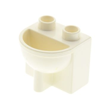 1 x Lego brick white Duplo Furniture Bathroom Sink 4112061 4892