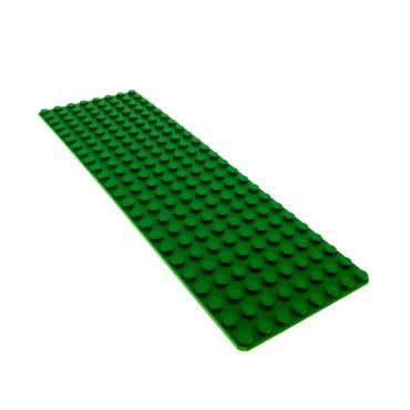 1 x Lego System Bau Platte 8 x 24 grün 24 x 8 Noppen 8x24 Rasen 3497