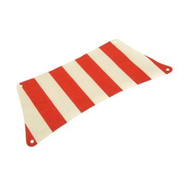 1 x Lego brick white Cloth Sail 30 x 15 Bottom with red Thick Stripes Pattern 6285 10040 sailbb05