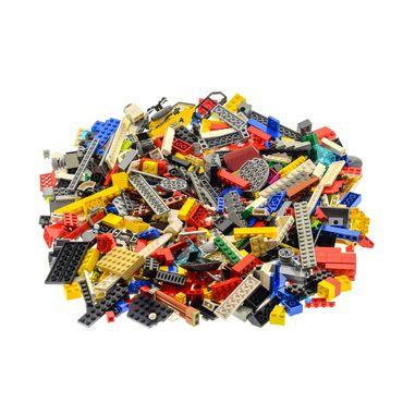 600 Teile Lego System Steine Form Farbe zufällig bunt gemischt Kiloware 0,80 kg z.B. Räder Platten Fenster  – Bild 1