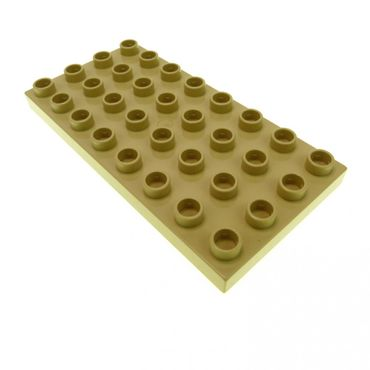 1 x Lego brick tan Duplo Plate 4 x 8 for Set 3772 3771 5608 6156 10199 4672