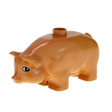 1 x Lego Duplo Tier Schwein flesh rosa orange hautfarben Sau Eber Bauernhof Farm Pig 75722 pig02