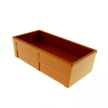 1 x Lego brick Dark Orange Duplo Container Box 2 x 4 (Horse Trough New Style) Set 5635 10500 5648 61896