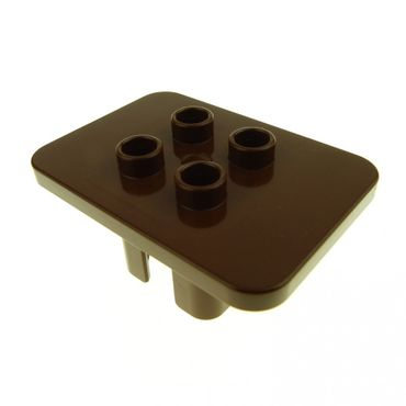 1 x Lego brick brown Duplo Furniture Table Square with 4 Top Studs 6479