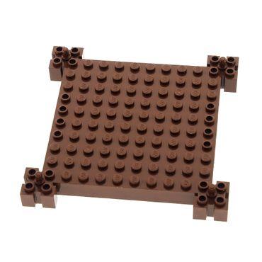 1 x Lego System Bau Platte 12x12 reddish rot braun modifiziert Ritter Burg Turm Set 8780 30645