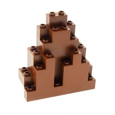 1 x Lego brick reddish brown Rock Panel 3 x 8 x 7 Triangular (LURP) Set 8780 8637 8877 4223735 6083