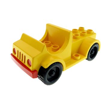 1 x Lego Duplo brick yellow Duplo Car with 2 x 4 Studs Bed and Running Boards Truck for Set 2634 2649 9156 1041 4575