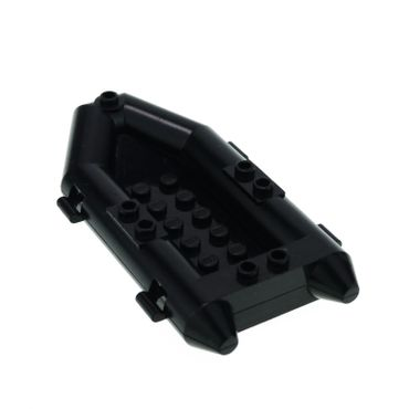 1 x Lego brick black Boat Rubber Raft Small 4669 4606 30086