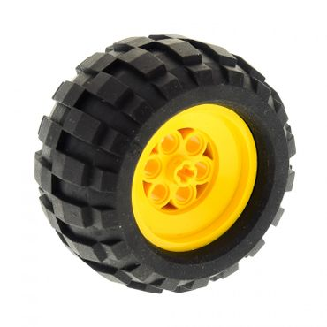 1 x Lego brick Wheel 68.8 x 40 Balloon Large, with Black Tire 68.8 x 40 Balloon Large (2996 / 2995) 2996c01