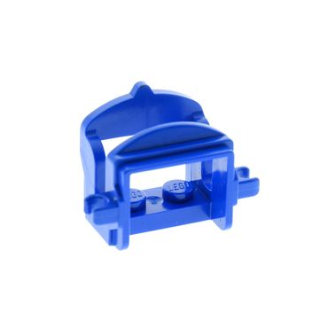 1 x Lego brick blue Horse Saddle with Two Clips 4491b