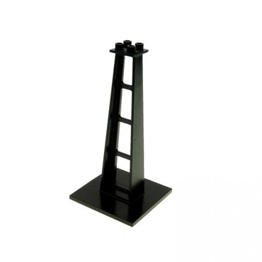 1 x Lego brick Black Support 6 x 6 x 10 Stanchion Blacktron Monorail bridge 6991 6988 4565 6399 2681