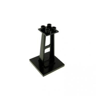 1 x Lego brick Black Support 4 x 4 x 5 Stanchion Monorail bridge 6399 6990 6991 6897 2680