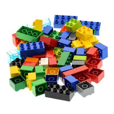 60 x  LEGO DUPLO BASIC STEINE 10 Stk. 2 x 4 Noppen und 50 Stk. 2 x 2 bunt gemischt BAUSTEINE – Bild 2