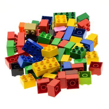 60 x  LEGO DUPLO BASIC STEINE 10 Stk. 2 x 4 Noppen und 50 Stk. 2 x 2 bunt gemischt BAUSTEINE – Bild 3
